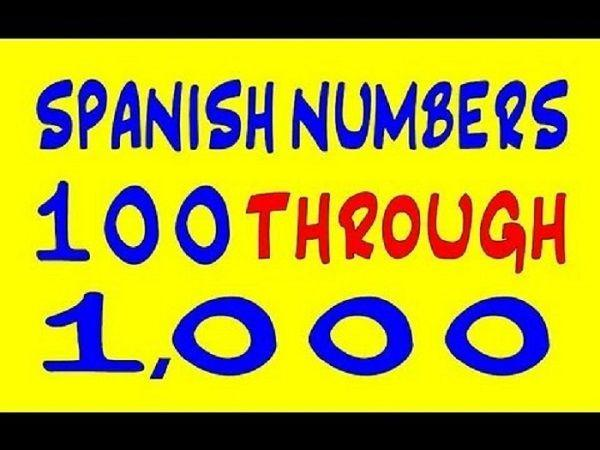 Spanish numbers 1 to 1000