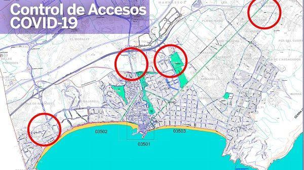 Police control entry points into Benidorm
