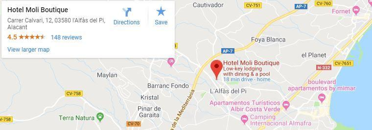 Hotel Moli Boutique, Map